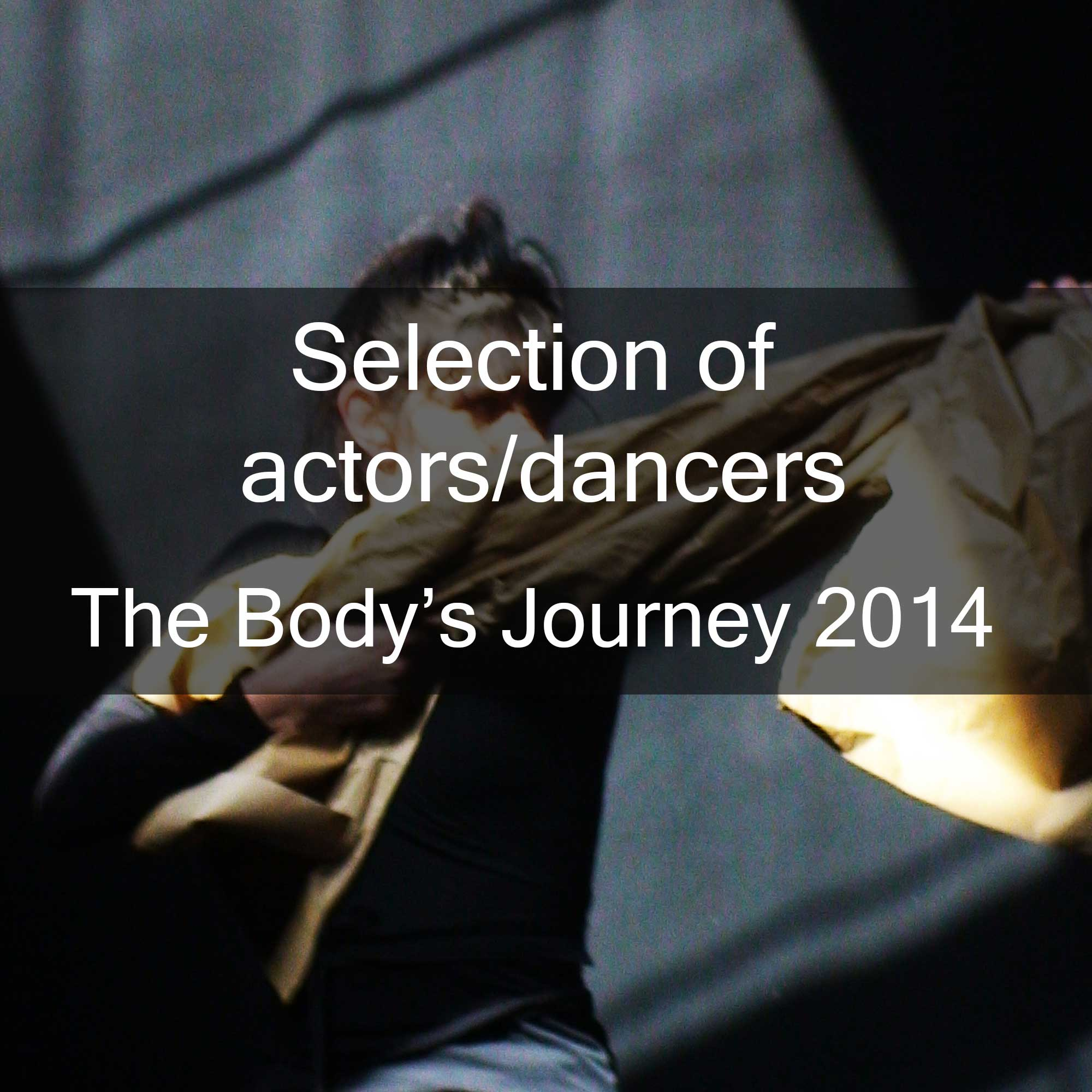 Selection of actors/dancers for The Body's Journey 2014